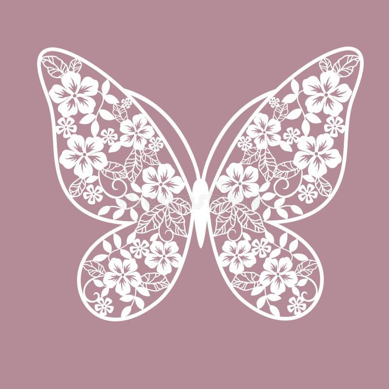 Πεταλούδα Adstract από τα λουλούδια διανυσματική απεικόνιση