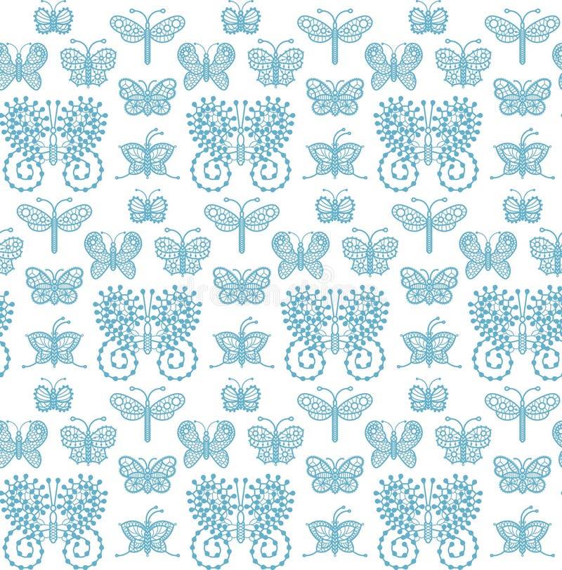 Πεταλούδες δαντελλών - άνευ ραφής σχέδιο απεικόνιση αποθεμάτων