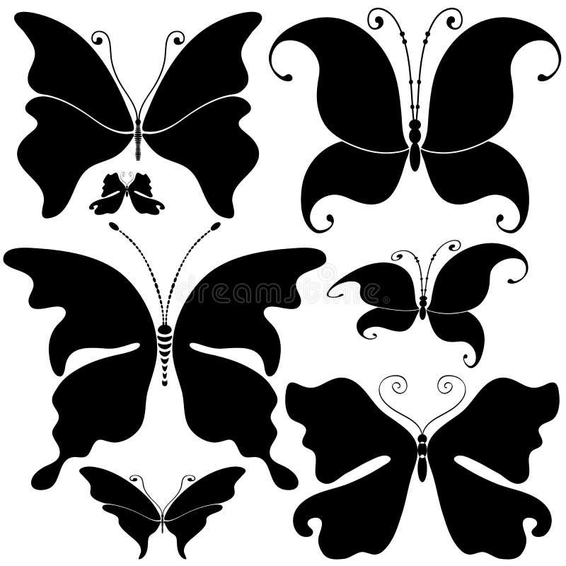 Download πεταλούδες που τίθεντα& διανυσματική απεικόνιση. εικονογραφία από μπούκλα - 22778019