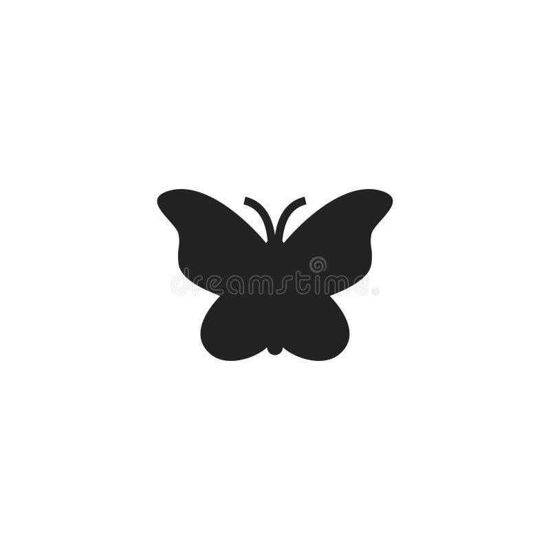 Πεταλούδων εικονίδιο, σύμβολο ή λογότυπο Glyph διανυσματικό διανυσματική απεικόνιση