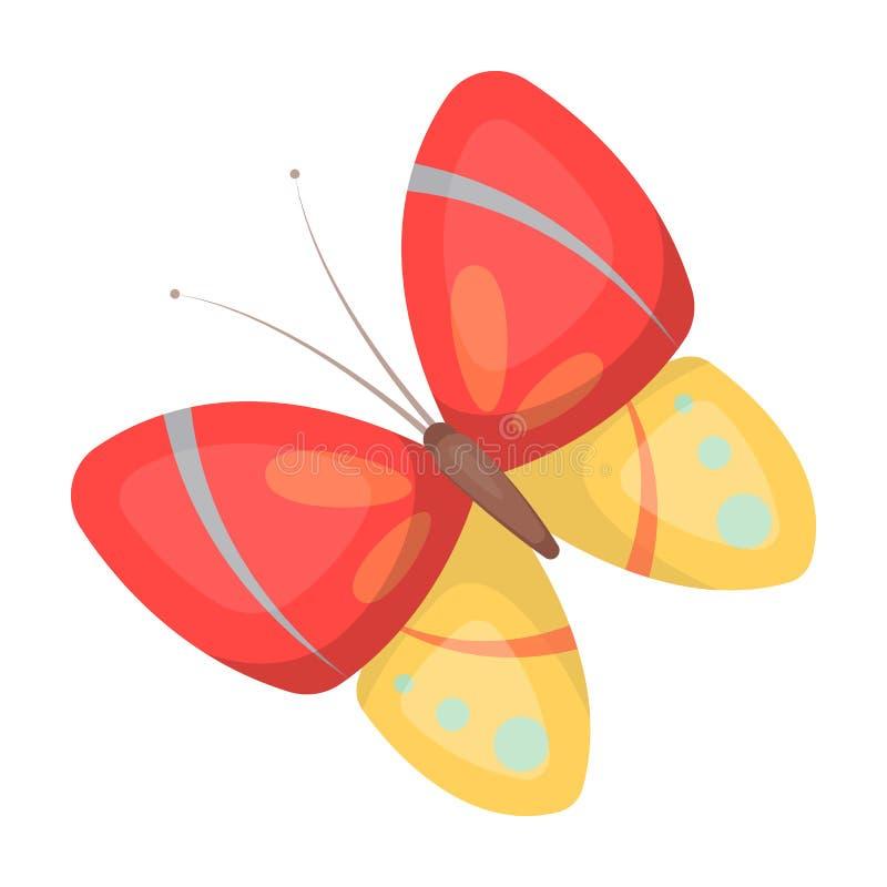 Πεταλούδα άνοιξη Ενιαίο εικονίδιο Πάσχας στη διανυσματική απεικόνιση αποθεμάτων συμβόλων ύφους κινούμενων σχεδίων ελεύθερη απεικόνιση δικαιώματος