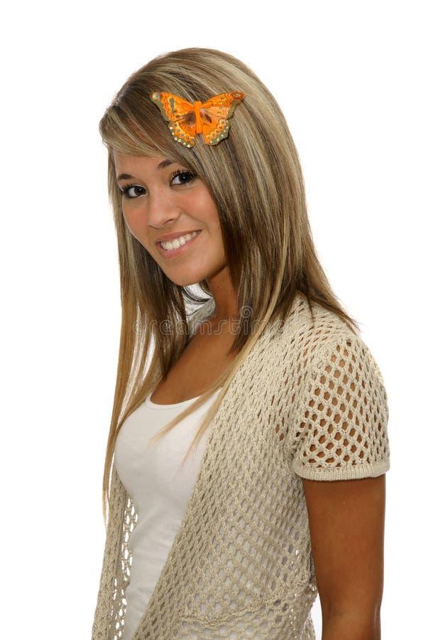 πεταλούδα γυναικών στοκ φωτογραφία με δικαίωμα ελεύθερης χρήσης