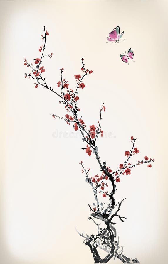 Πεταλούδα και χειμερινό γλυκό ελεύθερη απεικόνιση δικαιώματος