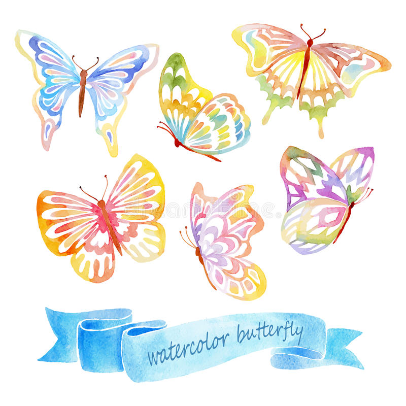 Πεταλούδα Watercolor απεικόνιση αποθεμάτων