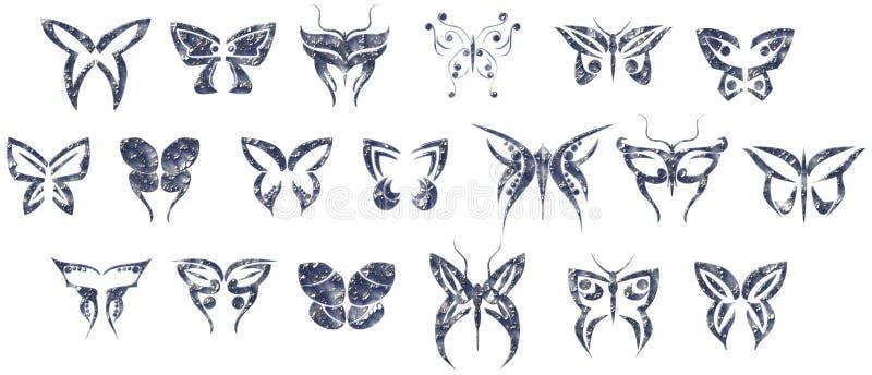 Πεταλούδες διανυσματική απεικόνιση