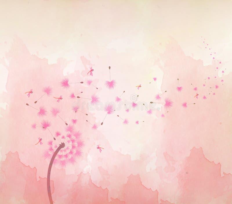 Πεταλούδες Watercolor και floral υπόβαθρο ελεύθερη απεικόνιση δικαιώματος