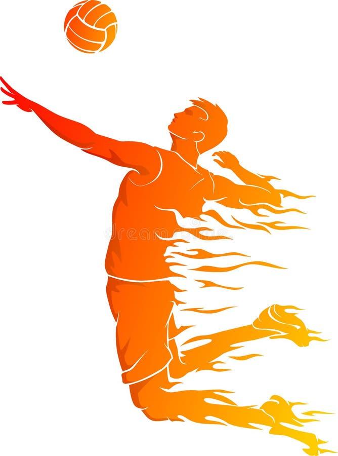 Πετοσφαίριση αρσενικού, αφηρημένη καυτή φλόγα απεικόνιση αποθεμάτων