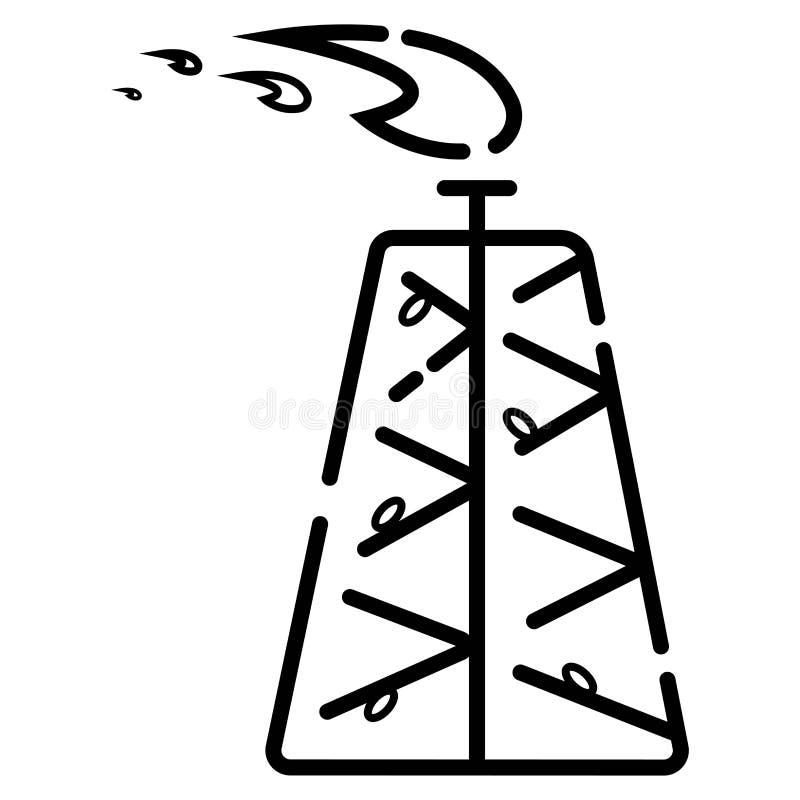 Πετρέλαιο, διάνυσμα εικονιδίων εγκαταστάσεων γεώτρησης αερίου απεικόνιση αποθεμάτων