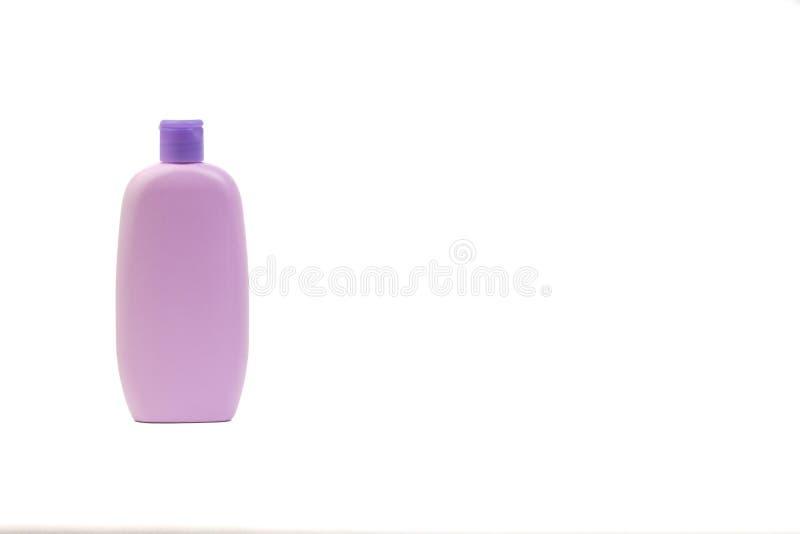 Πετρέλαιο μωρών ή μπουκάλι σαμπουάν που απομονώνεται στο άσπρο υπόβαθρο στοκ φωτογραφίες
