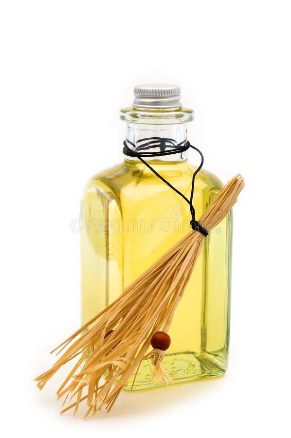 πετρέλαιο σανού φιαλών κίτρινο στοκ εικόνα με δικαίωμα ελεύθερης χρήσης