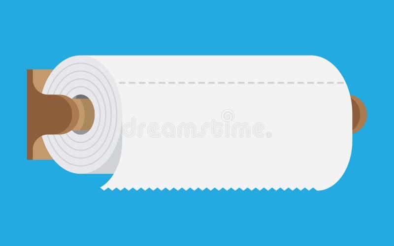Πετσέτα εγγράφου κουζινών διανυσματική απεικόνιση