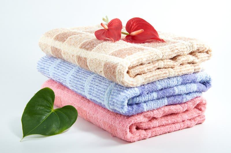 πετσέτα λουτρών στοκ εικόνες