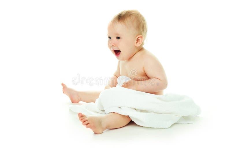 πετσέτα μωρών που τυλίγετ&a στοκ εικόνες