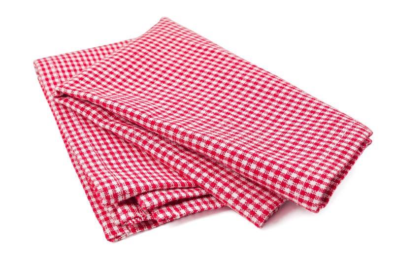 Πετσέτα που απομονώνεται κόκκινη στοκ εικόνα