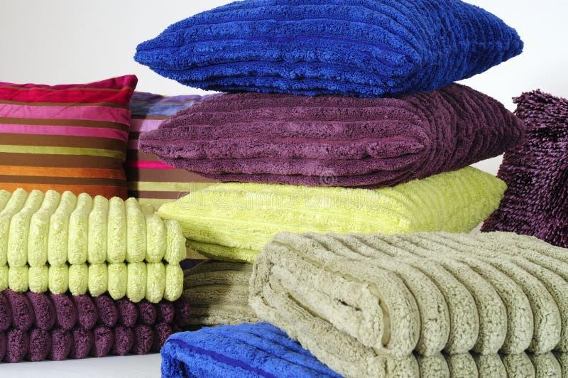 πετσέτες μαξιλαριών στοκ εικόνα