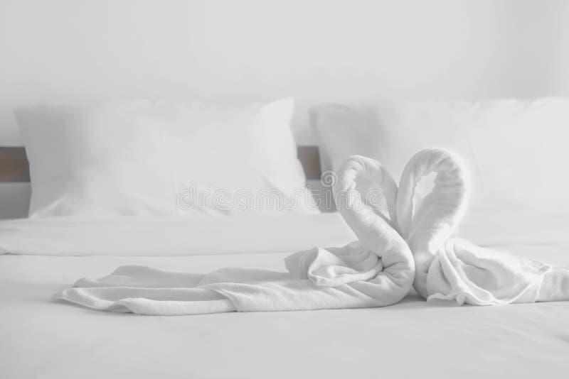 Πετσέτες μορφής καρδιών στοκ εικόνες με δικαίωμα ελεύθερης χρήσης