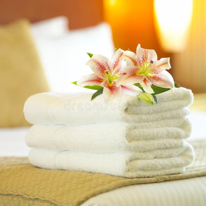 πετσέτες ξενοδοχείων στοκ εικόνα