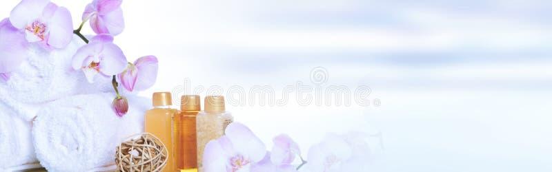 πετσέτες λουλουδιών στοκ φωτογραφία