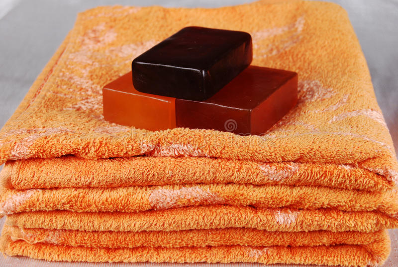 πετσέτες σαπουνιών στοκ εικόνα με δικαίωμα ελεύθερης χρήσης