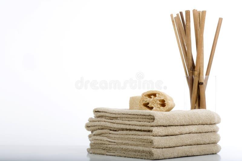 πετσέτες σφουγγαριών στοκ εικόνα με δικαίωμα ελεύθερης χρήσης