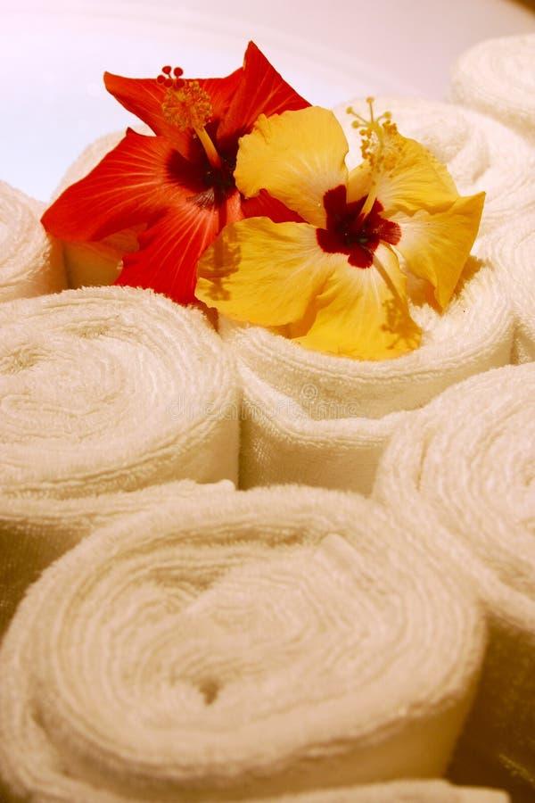 πετσέτες SPA στοκ εικόνες