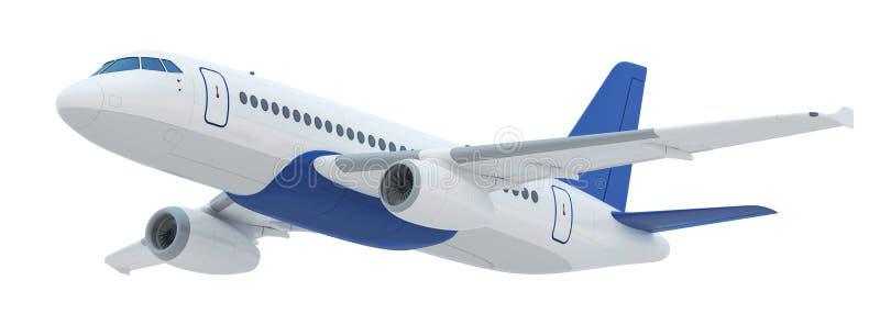 Πετώντας αεροπλάνο που απομονώνεται ελεύθερη απεικόνιση δικαιώματος