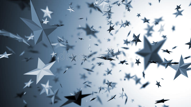 πετώντας αστέρια ελεύθερη απεικόνιση δικαιώματος