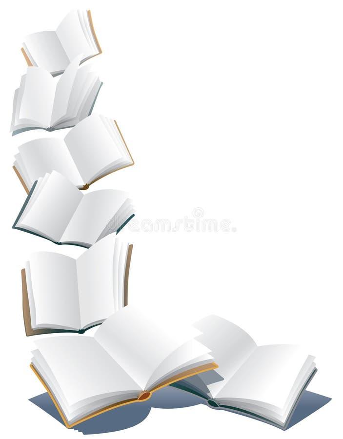 Πετώντας βιβλία απεικόνιση αποθεμάτων