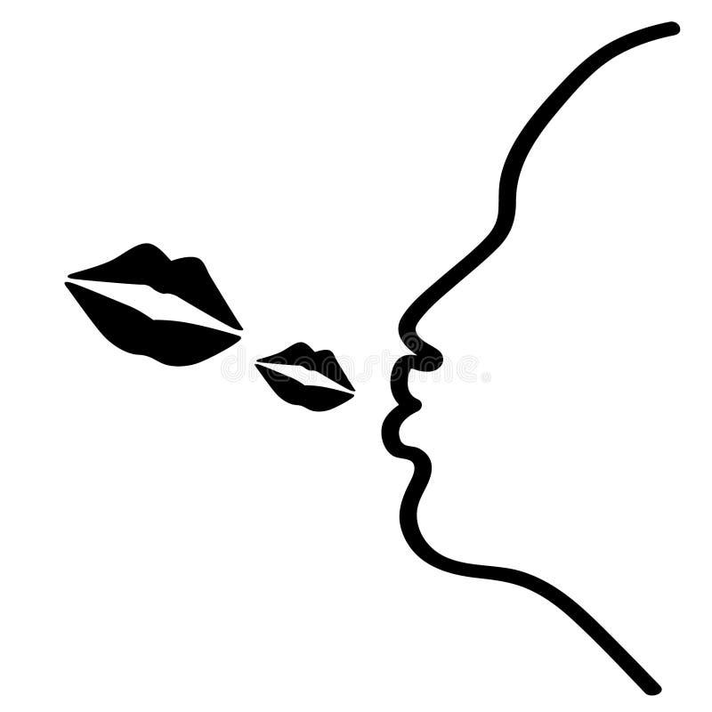 Πετώντας διανυσματική απεικόνιση φιλιών από τα crafteroks ελεύθερη απεικόνιση δικαιώματος