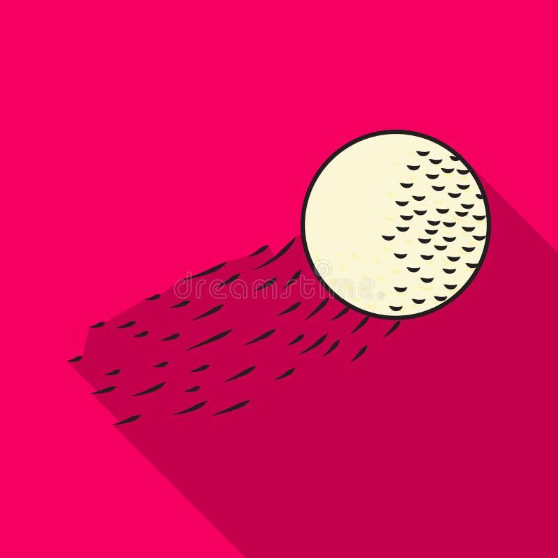 Πετώντας εικονίδιο σφαιρών γκολφ στο επίπεδο ύφος που απομονώνεται στο άσπρο υπόβαθρο Διανυσματική απεικόνιση αποθεμάτων συμβόλων ελεύθερη απεικόνιση δικαιώματος