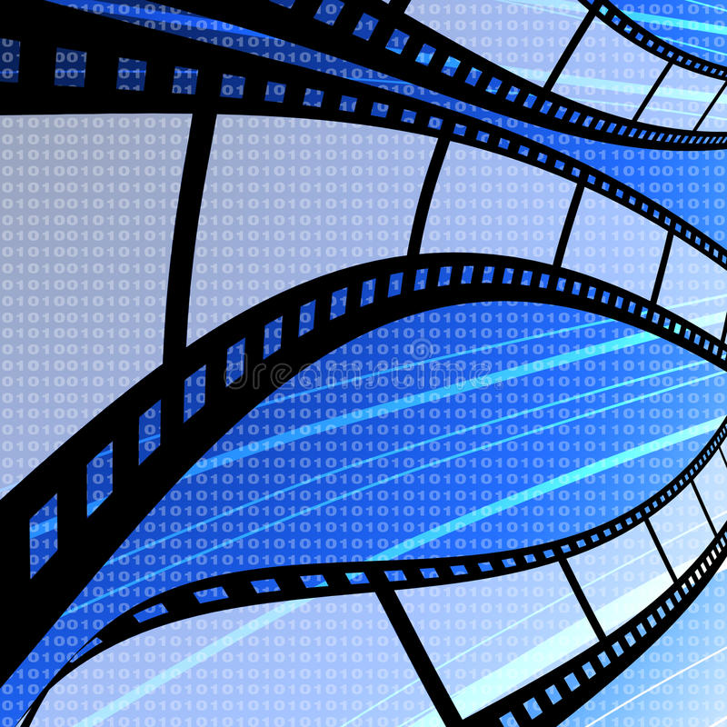 Download Πετώντας κενή λουρίδα ταινιών με την ανασκόπηση ψηφίων Απεικόνιση αποθεμάτων - εικονογραφία από ανασκόπησης, βιομηχανία: 22791689