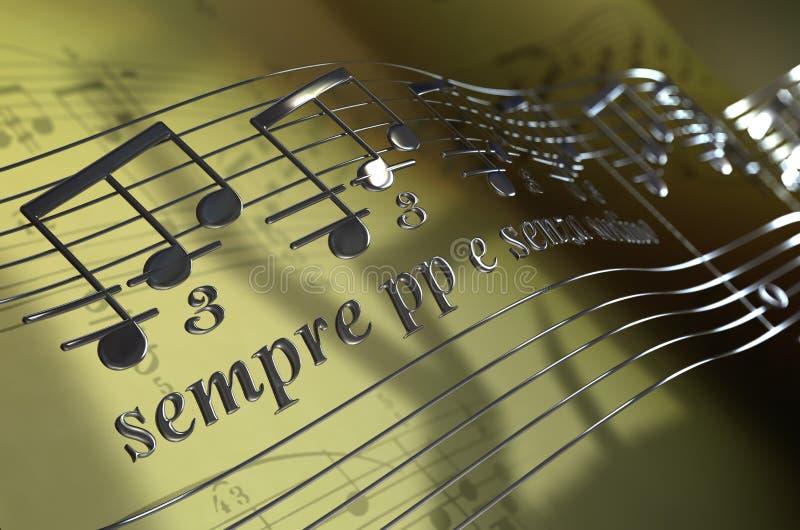 πετώντας μουσικές νότες ελεύθερη απεικόνιση δικαιώματος