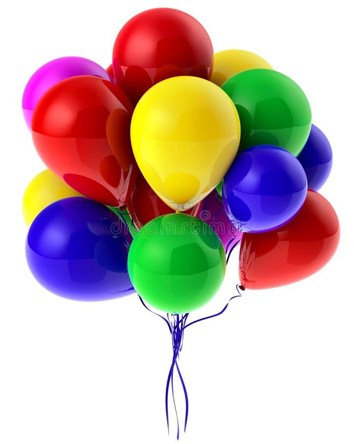 Πετώντας μπαλόνια απεικόνιση αποθεμάτων