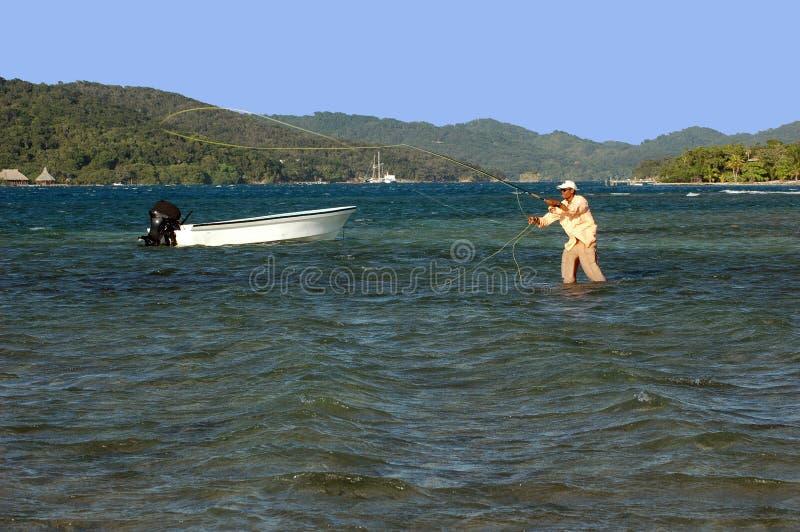 πετώντας οδηγός honduran αλιείας στοκ εικόνες