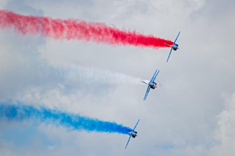 Πετώντας ομάδα επίδειξης Patrouille de Γαλλία στοκ εικόνα με δικαίωμα ελεύθερης χρήσης