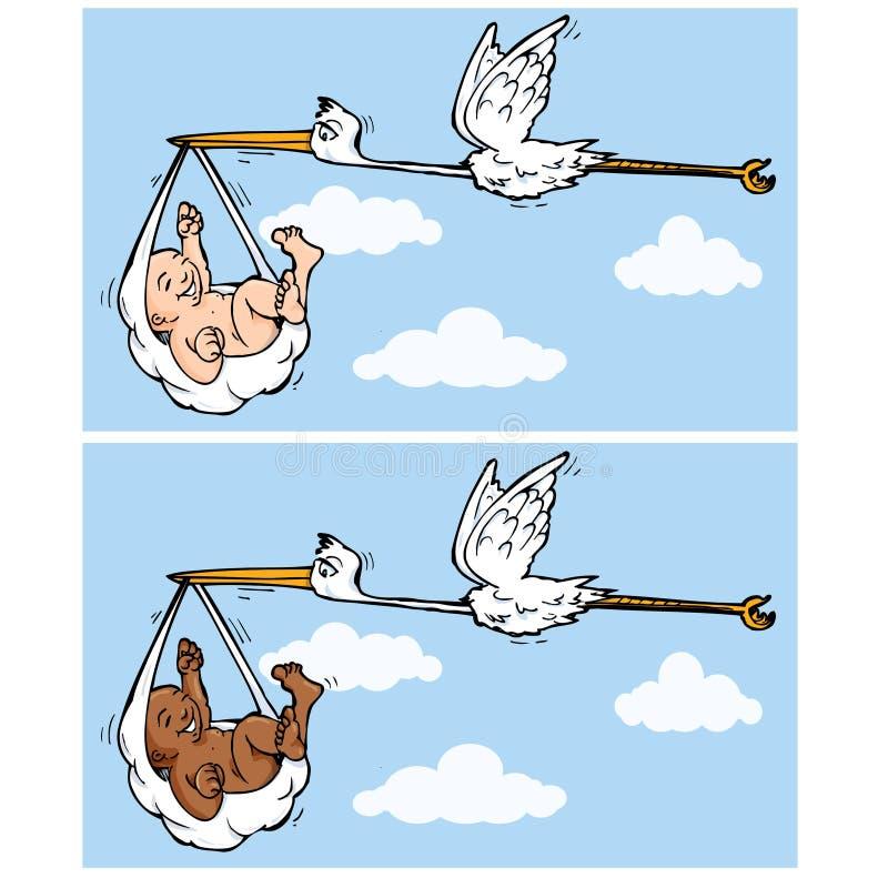 πετώντας πελαργός κινούμ&epsi ελεύθερη απεικόνιση δικαιώματος