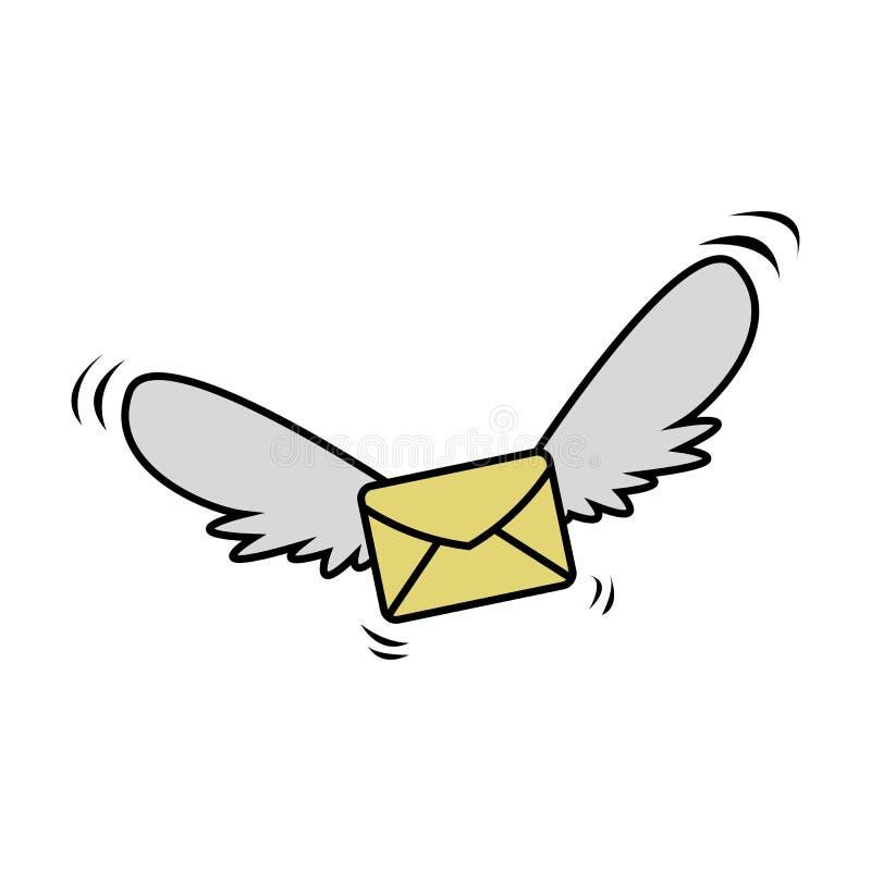 Πετώντας ταχυδρομείο διανυσματική απεικόνιση
