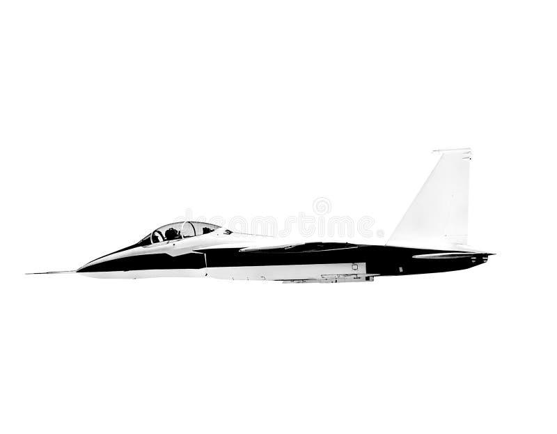 Πετώντας υπερηχητικό αεροπλάνο αεριωθούμενων αεροπλάνων που απομονώνεται στο άσπρο υπόβαθρο στοκ φωτογραφία με δικαίωμα ελεύθερης χρήσης