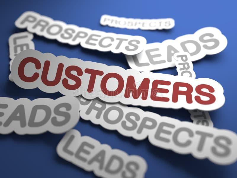 Πελάτες. Επιχειρησιακό υπόβαθρο. απεικόνιση αποθεμάτων