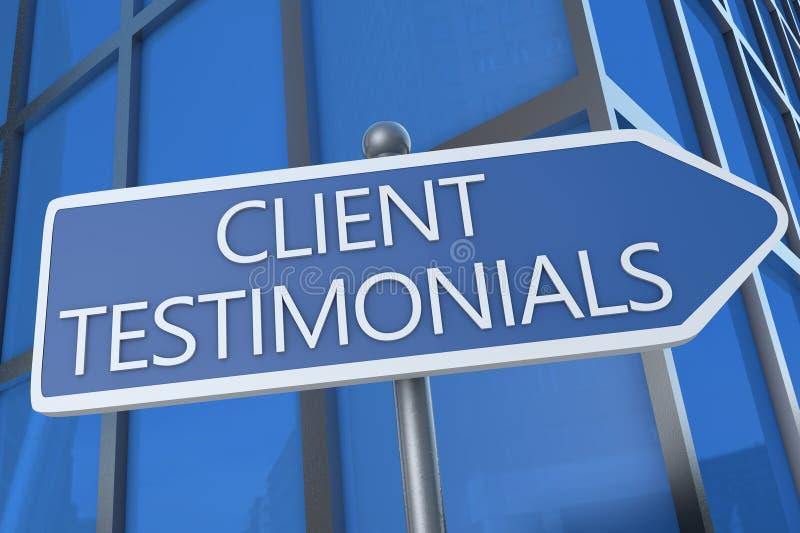 Πελάτης Testimonials στοκ εικόνα με δικαίωμα ελεύθερης χρήσης