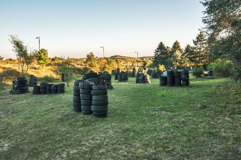 Πεδίο μάχης Paintball στοκ εικόνες με δικαίωμα ελεύθερης χρήσης