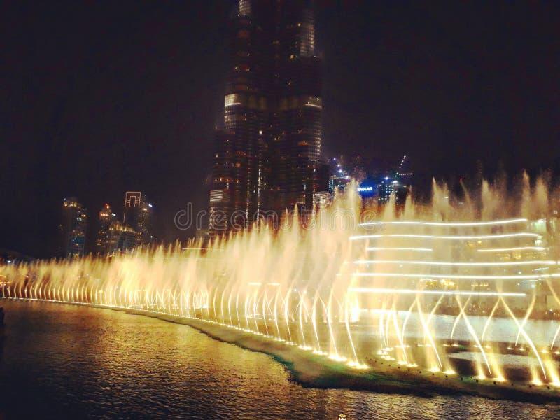 Πηγές του Ντουμπάι στοκ εικόνες