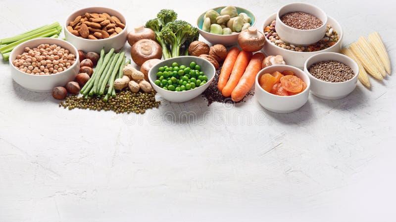 Πηγές τροφίμων βασισμένης στις εγκαταστάσεις πρωτεΐνης στοκ φωτογραφία