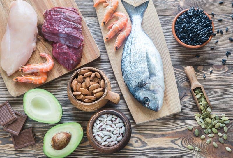 Πηγές τροφίμων ψευδάργυρου στοκ εικόνα
