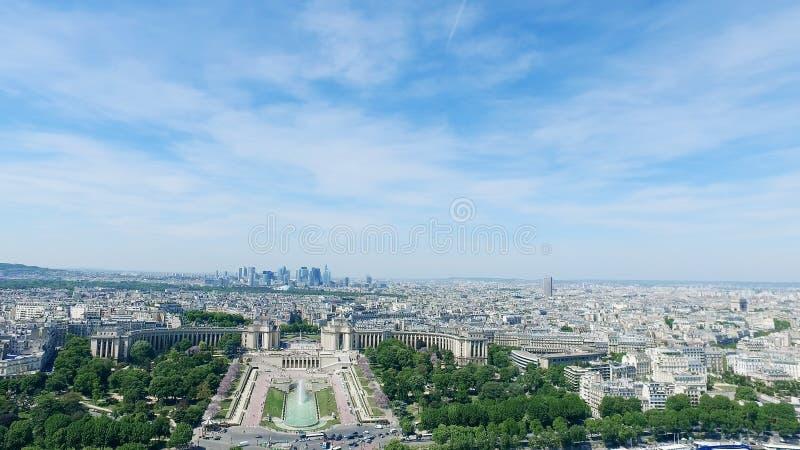 Πηγές Trocadero και πυροβόλων στο Παρίσι, Γαλλία στοκ φωτογραφία με δικαίωμα ελεύθερης χρήσης