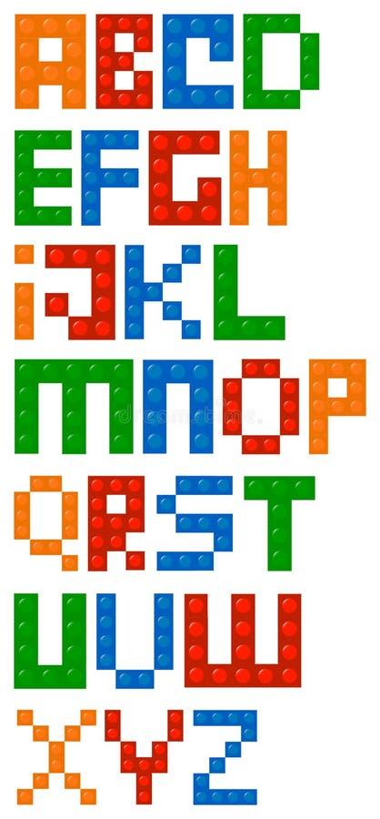 Πηγή αλφάβητου δομικών μονάδων ελεύθερη απεικόνιση δικαιώματος