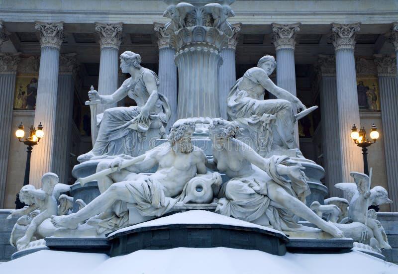 Download πηγή Βιέννη Αθηνάς στοκ εικόνες. εικόνα από βασιλικός - 13187006