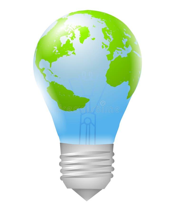 πηγή γήινης ενέργειας lightbulb ελεύθερη απεικόνιση δικαιώματος
