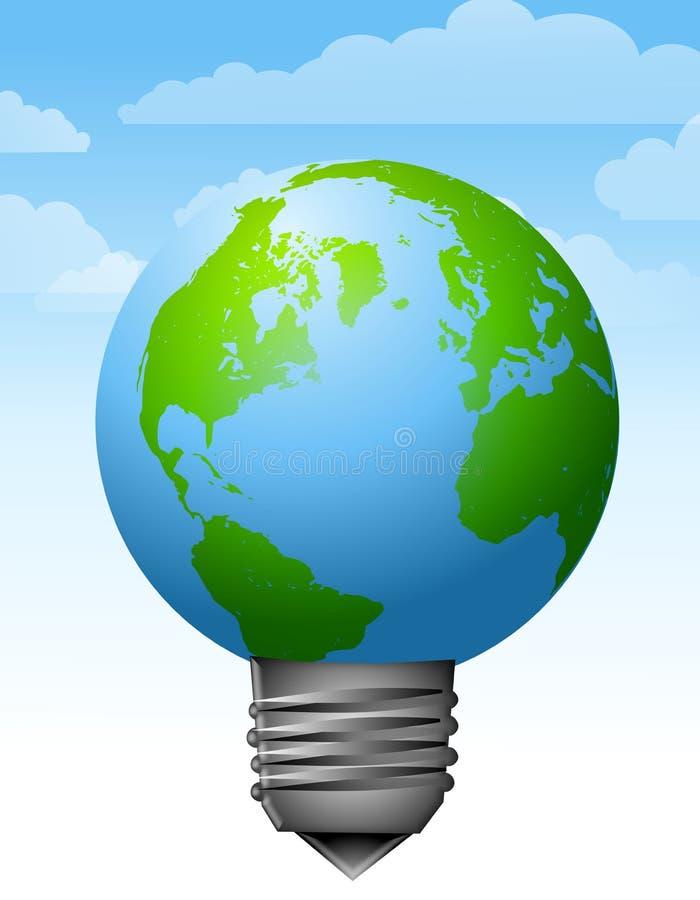 πηγή γήινης 2 ενέργειας lightbulb απεικόνιση αποθεμάτων