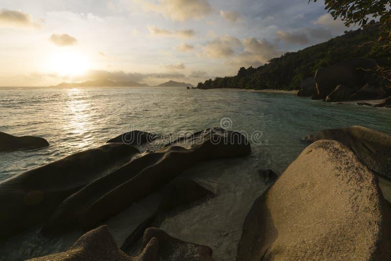 Πηγή Δ ` Argent, Λα Digue, Σεϋχέλλες Anse στοκ εικόνες με δικαίωμα ελεύθερης χρήσης